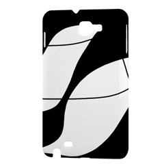 White and black shadow Samsung Galaxy Note 1 Hardshell Case