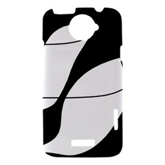 White and black shadow HTC One X Hardshell Case