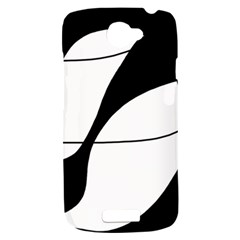 White and black shadow HTC One S Hardshell Case