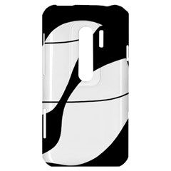 White and black shadow HTC Evo 3D Hardshell Case