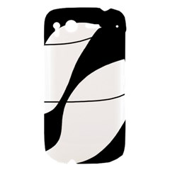 White and black shadow HTC Desire S Hardshell Case