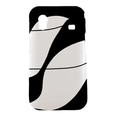 White and black shadow Samsung Galaxy Ace S5830 Hardshell Case