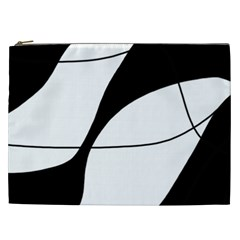 White and black shadow Cosmetic Bag (XXL)