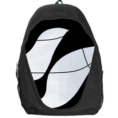 White and black shadow Backpack Bag
