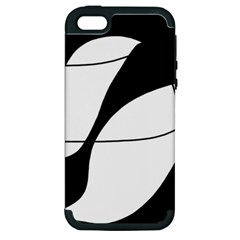 White and black shadow Apple iPhone 5 Hardshell Case (PC+Silicone)