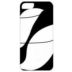 White and black shadow Apple iPhone 5 Classic Hardshell Case