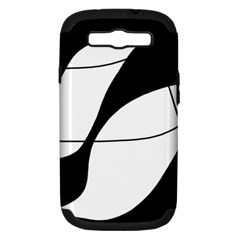 White and black shadow Samsung Galaxy S III Hardshell Case (PC+Silicone)