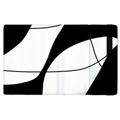 White and black shadow Apple iPad 3/4 Flip Case