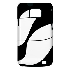 White and black shadow Samsung Galaxy S II i9100 Hardshell Case (PC+Silicone)