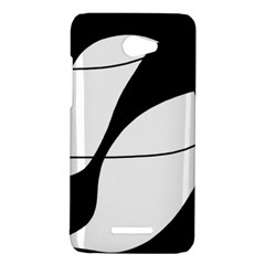 White and black shadow HTC Butterfly X920E Hardshell Case