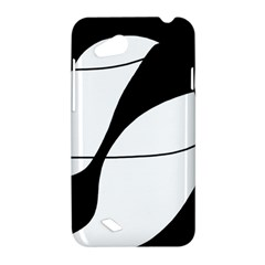 White and black shadow HTC Desire VC (T328D) Hardshell Case