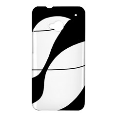 White and black shadow HTC One M7 Hardshell Case