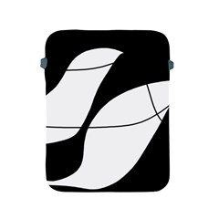 White and black shadow Apple iPad 2/3/4 Protective Soft Cases