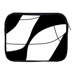 White and black shadow Apple iPad 2/3/4 Zipper Cases
