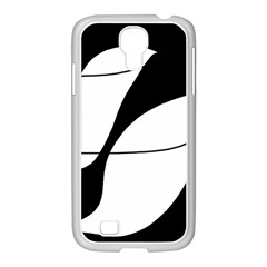 White and black shadow Samsung GALAXY S4 I9500/ I9505 Case (White)