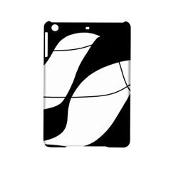 White and black shadow iPad Mini 2 Hardshell Cases
