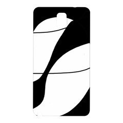 White and black shadow Samsung Galaxy Note 3 N9005 Hardshell Back Case