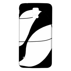 White and black shadow Samsung Galaxy S5 Back Case (White)