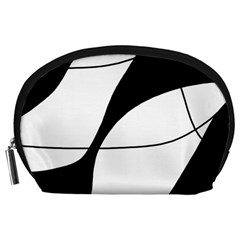 White and black shadow Accessory Pouches (Large)