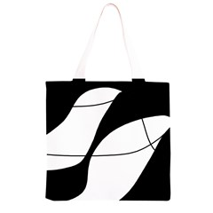 White and black shadow Grocery Light Tote Bag