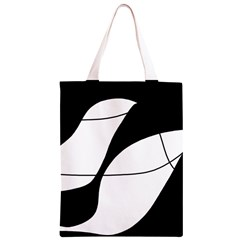 White and black shadow Classic Light Tote Bag