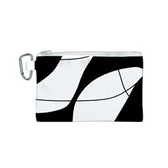 White and black shadow Canvas Cosmetic Bag (S)