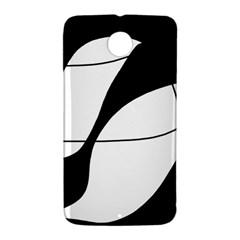 White and black shadow Nexus 6 Case (White)