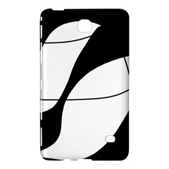 White and black shadow Samsung Galaxy Tab 4 (7 ) Hardshell Case
