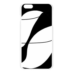 White and black shadow Apple Seamless iPhone 6 Plus/6S Plus Case (Transparent)