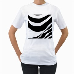 White or black Women s T-Shirt (White) (Two Sided)