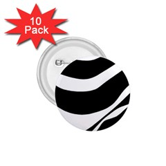White or black 1.75  Buttons (10 pack)