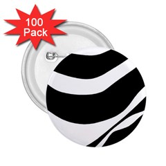 White or black 2.25  Buttons (100 pack)