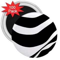 White or black 3  Magnets (100 pack)