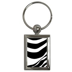 White or black Key Chains (Rectangle)