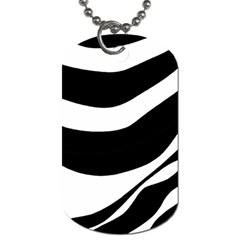 White or black Dog Tag (One Side)