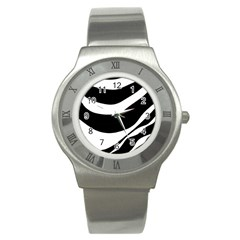 White or black Stainless Steel Watch