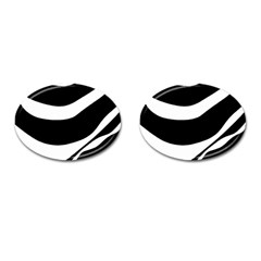White or black Cufflinks (Oval)