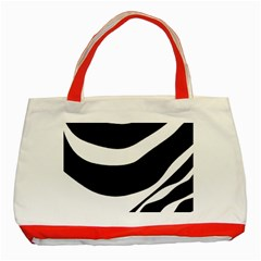 White or black Classic Tote Bag (Red)