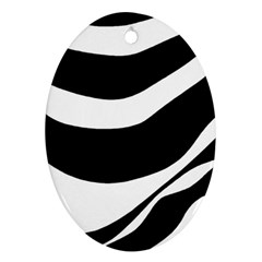 White or black Oval Ornament (Two Sides)