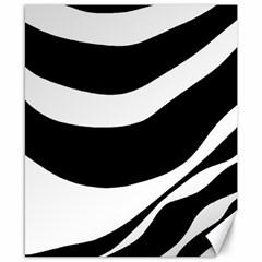 White or black Canvas 8  x 10