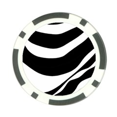 White or black Poker Chip Card Guards