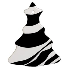 White or black Christmas Tree Ornament (2 Sides)