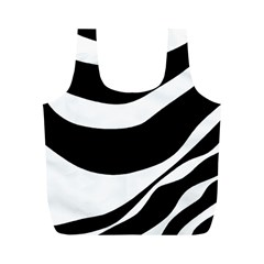 White or black Full Print Recycle Bags (M)