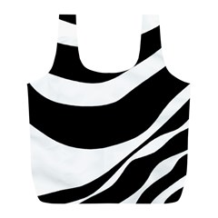 White or black Full Print Recycle Bags (L)