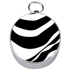 White or black Silver Compasses