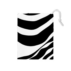 White or black Drawstring Pouches (Medium)