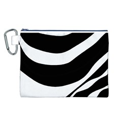 White or black Canvas Cosmetic Bag (L)