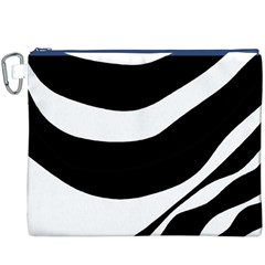 White or black Canvas Cosmetic Bag (XXXL)