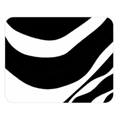 White or black Double Sided Flano Blanket (Large)
