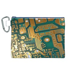 Circuit Computer Plate  Canvas Cosmetic Bag (XL)